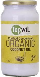 TopwiL Purified Deodorized Organic Coconut Oil Bottle 1L