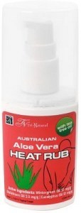 Tri-Natural Australian Aloe Vera Heat Rub with Tea Tree Oil 120ml