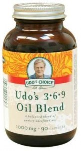 Udo's 3-6-9 Oil Blend  Softgel Vege Caps  90x1000mg