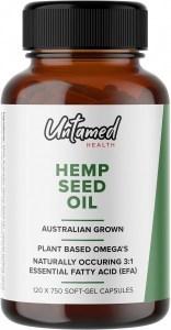 Untamed Health Hemp Seed Oil G/F 120 Softgel caps