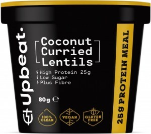 Upbeat Coconut Curried Lentils Protein Ready Meal  80g FEB21