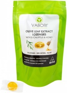 Vabori Olive Leaf Extract 20 Lozenges with Eucalyptus & Honey G/F 94g