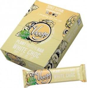 Veego Plant Protein Bar White Choc  10x50g
