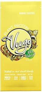 Veego Plant Protein Powder Sachet - Banana Smoothie  20g