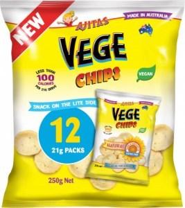 Vege Chips Natural  Multipack 12Pack G/F 250g