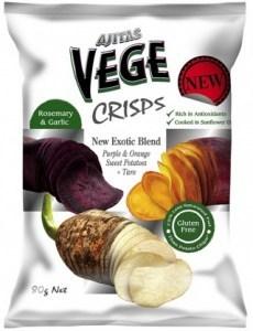 Vege Deli Crisps Rosemary & Garlic & Sweet Potatoes 80g x 5
