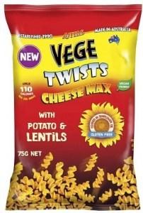 Vege Twists Cheese Max 5x75g