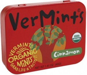 Vermints Cinnamon Organic Mints 40g