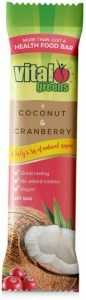Vital Greens Coconut & Cranberry Bars 12x50g