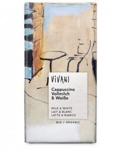 Vivani Cappuccino Milk & White Organic Chocolate 100g