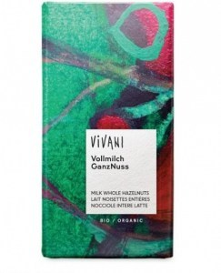 Vivani Milk Whole Hazelnuts Organic Chocolate 100g