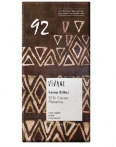 Vivani Fine Dark 92% Cacao Panama Organic Chocolate 80g