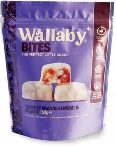 Wallaby Bites Yoghurt Orange Almond & Coconut 150g