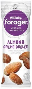 Wallaby Forager Creme Brulee Almonds Snacks 8x35g