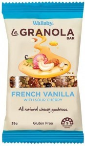Wallaby LeGranola Bars French Vanilla 10 x 38g