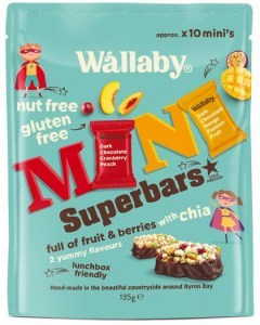 Wallaby Mini Superbars Fruit & Berries with Chia  135g