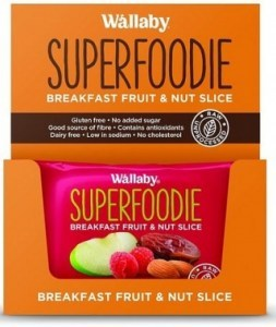 Wallaby Superfoodie Apple Raspberry Slice 8x48g