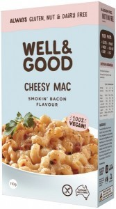 Well And Good Cheesy Mac Smokin' Bacon Flavour  110g