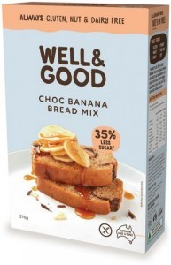 Well & Good Choc Banana Swirl Bread Mix 375g
