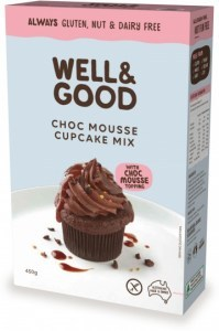 Well And Good Choc Mousse Cup Cake Mix & Mousse Topping  450g