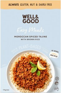 Well And Good Easy Meal Moroccan Spiced Tajine With Brown Rice  170g NOV21