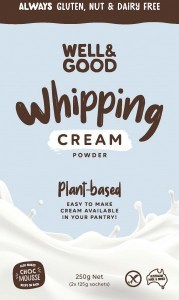 Well And Good Plant-Based Whipping Cream Powder 2x125g Sachets