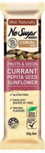 Well,naturally No Sugar Added Cereal Bar Fruits & Seeds 16x35g