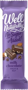 Well Naturally No Sugar Added Milk Chocolate Fruit & Nut 45gx16Bars