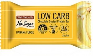 Well,naturally Low Carb Protein Bar Choc Coated Banana Fudge 5x25g