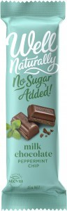 Well Naturally No Sugar Added Milk Chocolate Peppermint Chip 16x45gBars