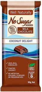 Well,naturally No Sugar Added Coconut Delight Block  12x90g