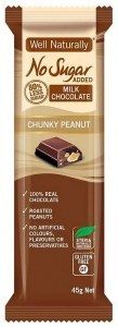 Well,naturally No Sugar Added Milk Chocolate Chunky Peanut16x45g
