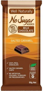Well,naturally No Sugar Added Milk Chocolate Salted Caramel 12x90g
