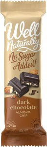 Well Naturally No Sugar Added Dark Chocolate Almond Chip 45gx16Bars