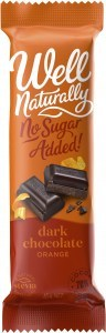 Well Naturally No Sugar Added Dark Chocolate Valencia Orange 45gx16Bars