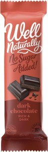 Well Naturally No Sugar Added Dark Chocolate Rich Dark 45gx16Bars