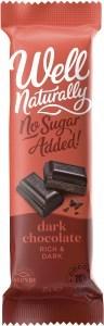 Well Naturally S/F Chocolate Bar Rich Dark 16x45gm