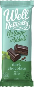 Well Naturally Sugar Free Dark Choc Mint Crisp Block 12 x 90g