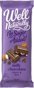 Well,naturally S/F Fruit & Nut Milk Chocolate Block 12x90g