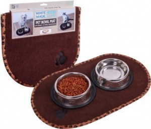 White Magic Eco Cloth Pet Bowl Mat - 55x41cm