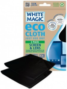 White Magic Eco Cloth Screen & Lens 2Pk - 30x30cm