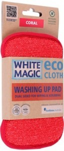 White Magic Washing Up Pad Coral - 15x8cm