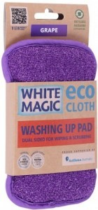 White Magic Washing Up Pad Grape - 15x8cm