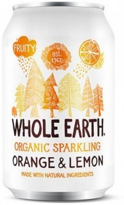 Whole Earth Organic Sparkling Drink Orange & Lemon 330ml
