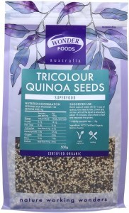 Wonderfoods Quinoa Seeds 500g Tri-colour (Org)