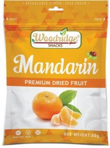 Woodridge Snacks Dried Fruit Mandarin  80g