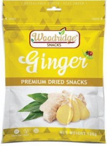 Woodridge Snacks Dried Ginger  130g