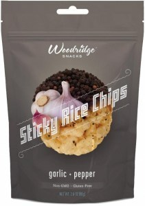 Woodridge Sticky Rice Chips Garlic & Black Pepper  80g