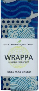 WRAPPA Organic Cotton Reusable Beeswax Food Wraps 3Pk Hammerhead