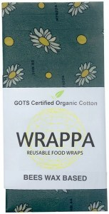 WRAPPA Organic Cotton Reusable Beeswax Jumbo Single Food Wrap Busy Bees